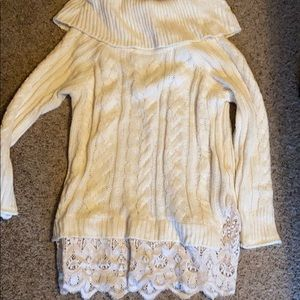 Knox rose lacy oversized sweater